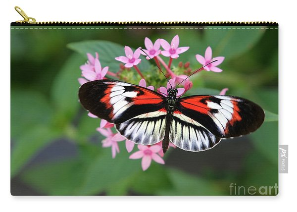 Piano Key Butterfly On Pink Penta Carry-all Pouch