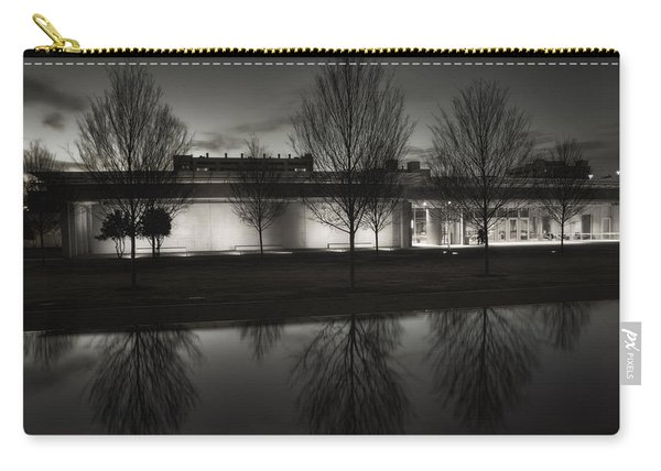 Piano Pavilion Bw Reflections Carry-all Pouch