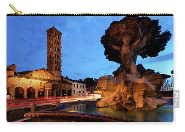 Piazza Della Bocca Della Verita' Carry-all Pouch