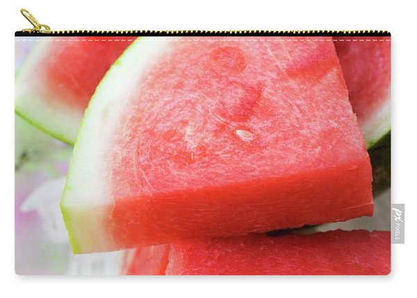 Pieces Of Watermelon On A Platter Carry-all Pouch