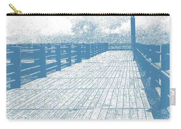 Pier In Blue Carry-all Pouch