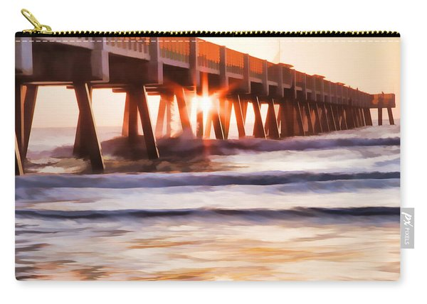Pier Sunrise Too Carry-all Pouch