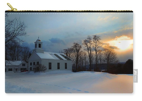 Piermont Church In Winter Light Carry-all Pouch