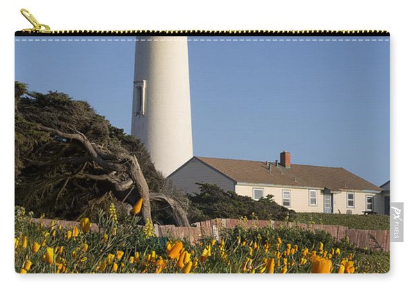 Pigeon Point Lighthouse And California Poppies Carry-all Pouch