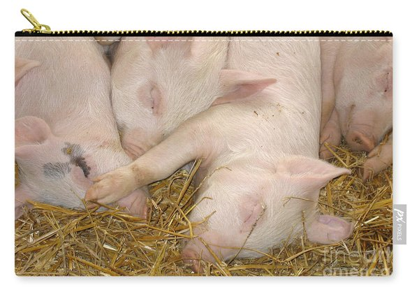 Piggy Feet In Face Carry-all Pouch