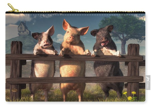 Pigs On A Fence Carry-all Pouch