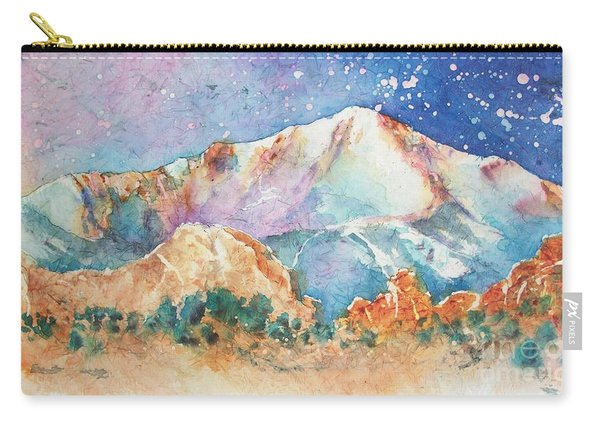 Pikes Peak Over The Garden Of The Gods Carry-all Pouch