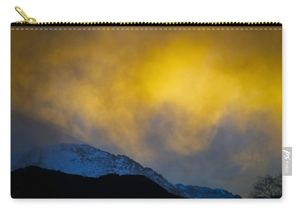 Pike's Peak Snow At Sunset Carry-all Pouch