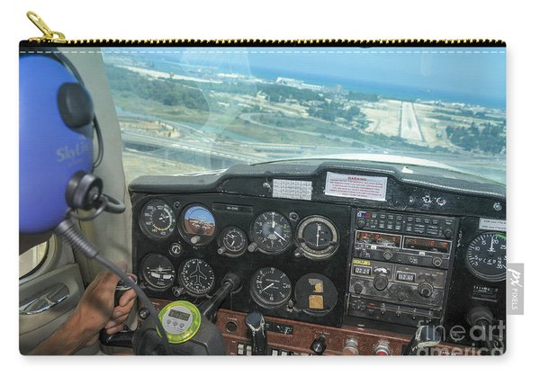 Pilot In Cessna Cockpit Carry-all Pouch