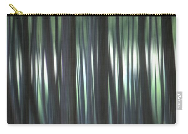 Pine Forest. Blurred Carry-all Pouch