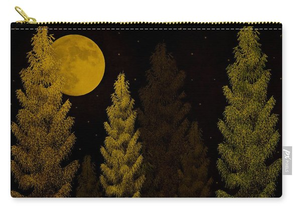 Pine Forest Moon Carry-all Pouch