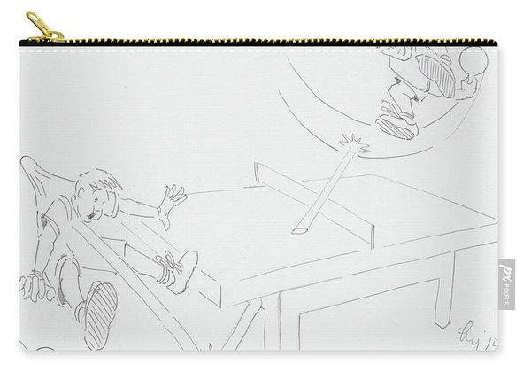 Ping Pong Cartoon Carry-all Pouch