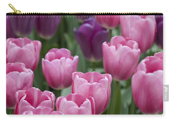 Pink And Purple Dutch Tulips Carry-all Pouch