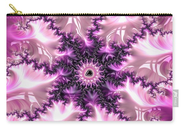 Pink And Purple Soft And Creamy Fractal Art Carry-all Pouch