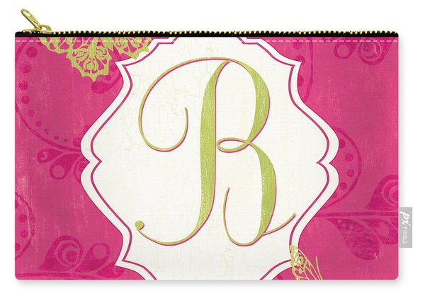 Pink Butterfly Monogram Carry-all Pouch