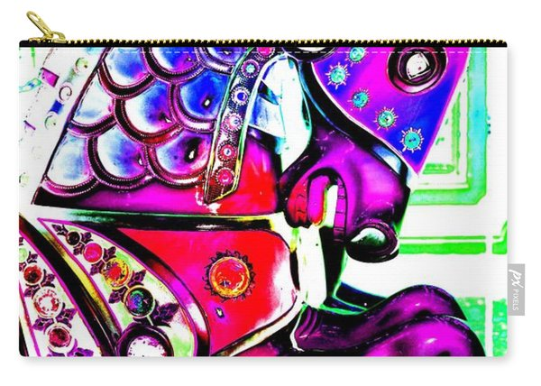 Pink Carnival Carousel Carry-all Pouch