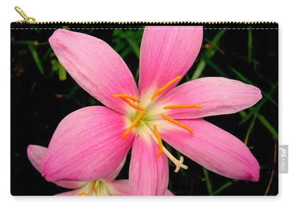Carry-all Pouch featuring the photograph Pink Day Lily by Cynthia Amaral