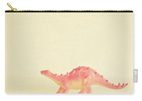 Pink Dinosaur Carry-all Pouch