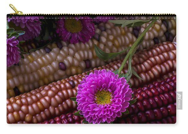 Pink Flower And Corn Carry-all Pouch