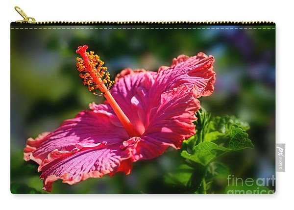 Pink Hibiscus By Kaye Menner Carry-all Pouch