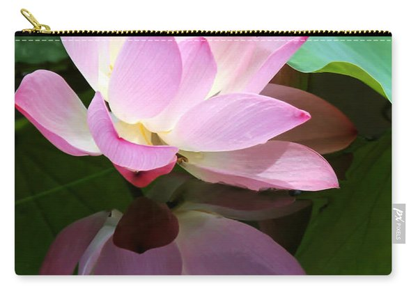Pink Lotus Reflected In The Lake Carry-all Pouch