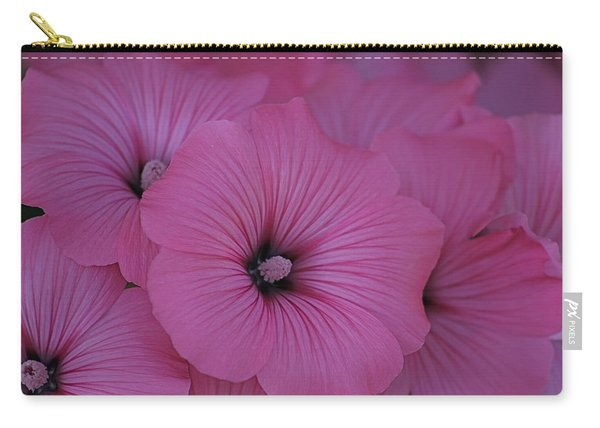 Pink Petunia Carry-all Pouch