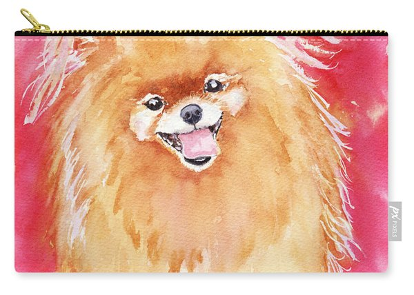 Pink Pom Carry-all Pouch