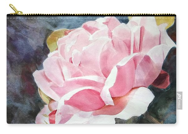 Pink Rose Caroline Carry-all Pouch