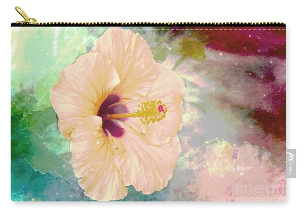 Pink Soft Hibiscus Carry-all Pouch
