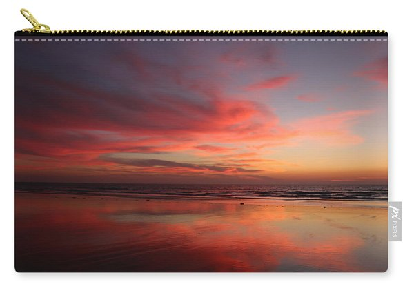 Carry-all Pouch featuring the photograph Ocean Sunset Reflected  by Christy Pooschke