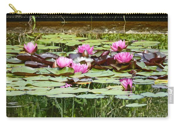 Pink Water Lilies Carry-all Pouch