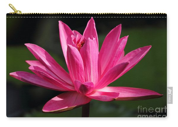 Pink Water Lily Carry-all Pouch