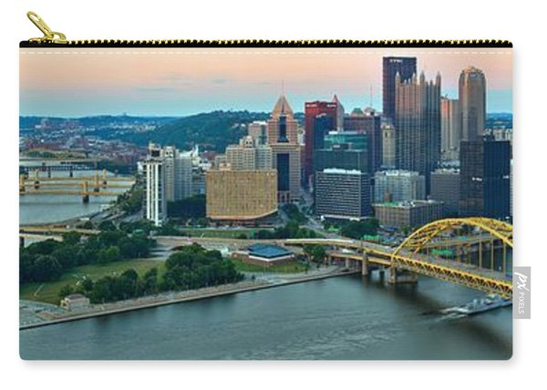 Pittsburgh Panorama At Dusk Carry-all Pouch