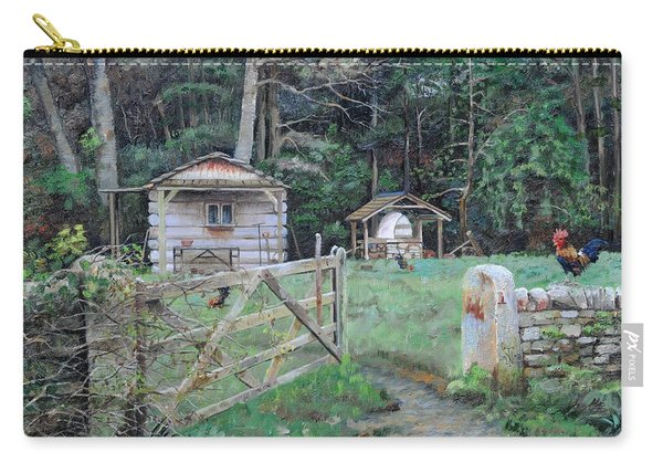 Pizza Hut, Beeley, Derbyshire, 2004 Oil On Canvas Carry-all Pouch