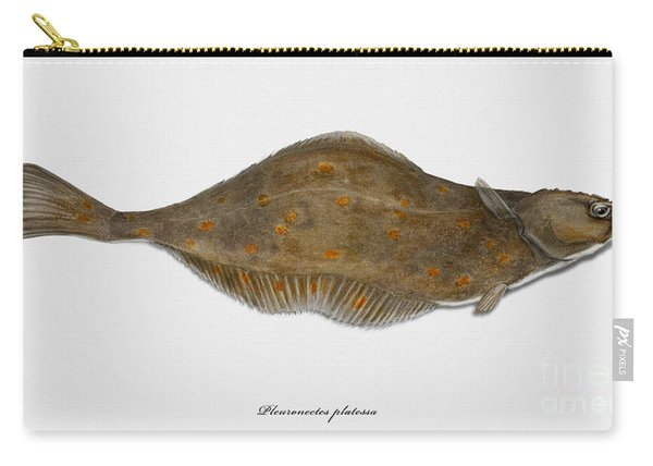 Plaice Pleuronectes Platessa - Flat Fish Pleuronectiformes - Carrelet Plie - Solla - Punakampela Carry-all Pouch