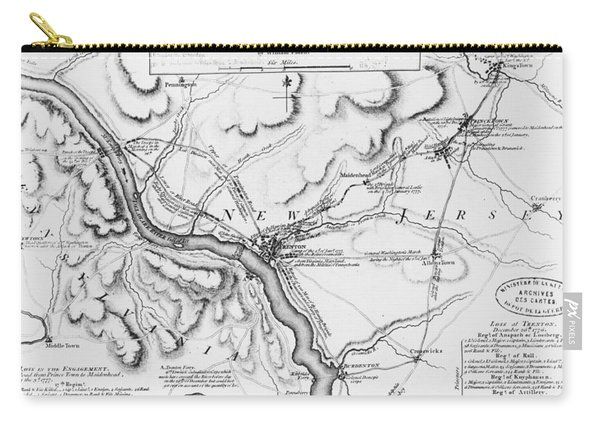Plan Of The Operations Of General Washington Against The Kings Troops In New Jersey Carry-all Pouch