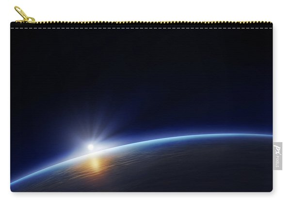 Planet Earth With Rising Sun Carry-all Pouch