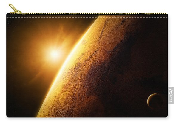 Planet Mars Close-up With Sunrise Carry-all Pouch