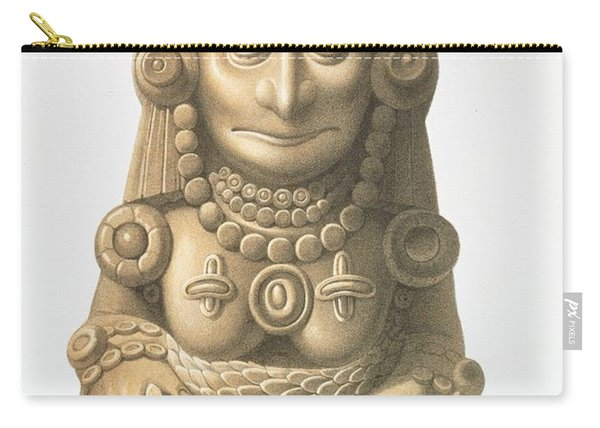 Plate From Ancient Monuments Of Mexico Carry-all Pouch