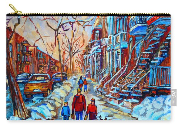 Plateau Montreal Street Scene Carry-all Pouch