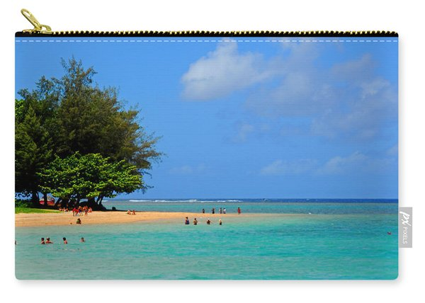 Playtime At Anini Beach Carry-all Pouch
