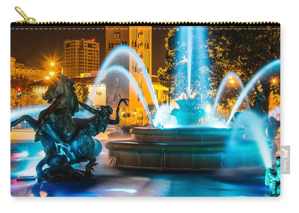 Plaza Blue Fountain Carry-all Pouch