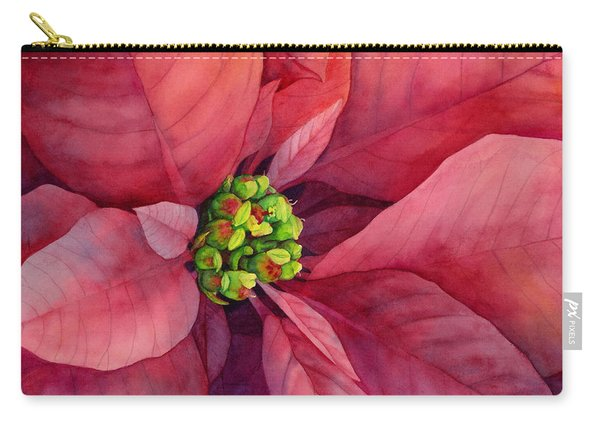 Plum Poinsettia Carry-all Pouch