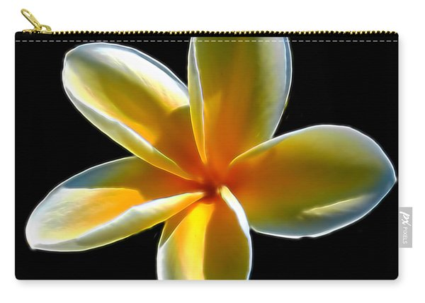 Plumeria Against Black Carry-all Pouch