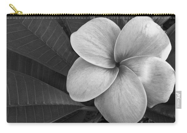 Plumeria With Raindrops Carry-all Pouch