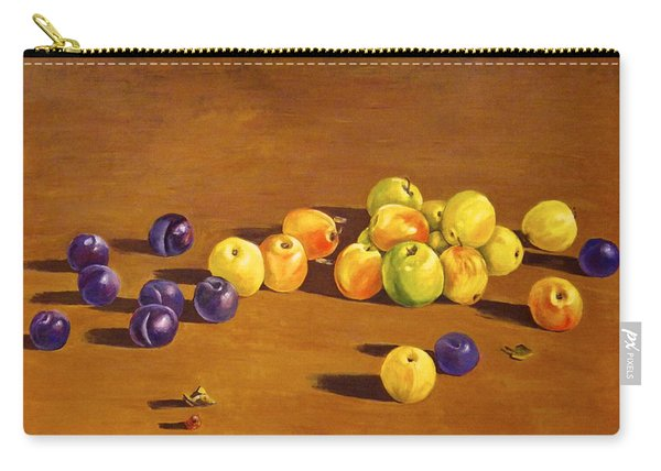 Plums And Apples Still Life Carry-all Pouch