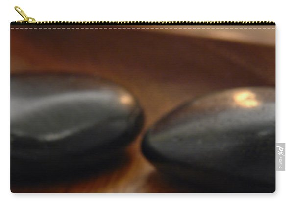 Polished Stones In A Spa Carry-all Pouch