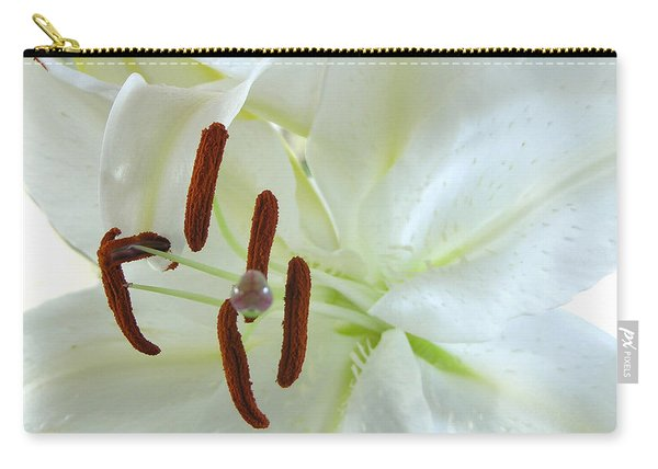 Pollinated White Tiger Lily Carry-all Pouch