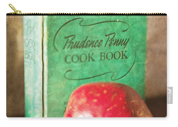 Pomegranate And Vintage Cook Book Still Life Carry-all Pouch