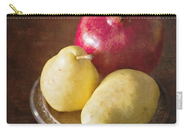 Pomegranate And Yellow Pear Still Life Carry-all Pouch